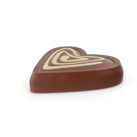 Heart Chocolate Candy with Cheesecake Line PNG & PSD Images