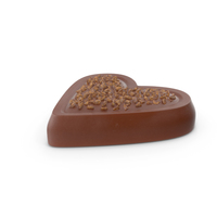 Heart Chocolate Candy with Nuts PNG & PSD Images
