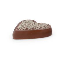 Heart Chocolate Candy with Coconut PNG & PSD Images