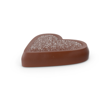 Heart Chocolate Candy with Sugar PNG & PSD Images
