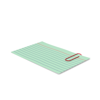 Index Card Green With Paper Clip PNG & PSD Images
