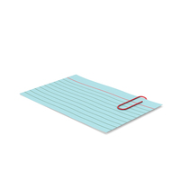 Index Card Blue With Paper Clip PNG & PSD Images