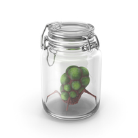Glass Jar with Alien Creature PNG & PSD Images