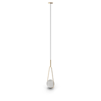 Pendant Lamp Loop Chrome and Gold PNG & PSD Images