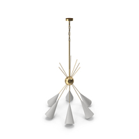 Chandelier Bouquet Brass by Blueprint Lighting PNG & PSD Images