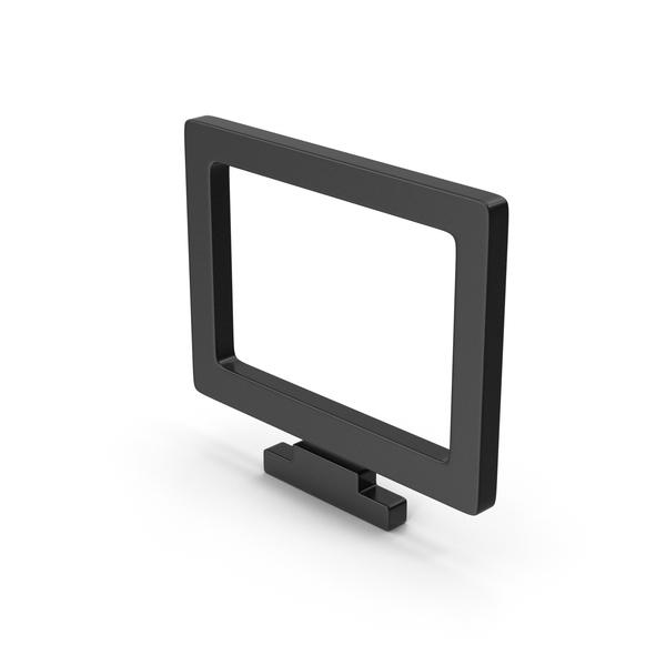 Black Symbol Monitor PNG & PSD Images