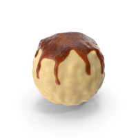 White Chocolate Ball with Caramel Glaze PNG & PSD Images