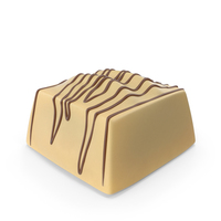 Square White Chocolate Candy with Chocolate Lines PNG & PSD Images