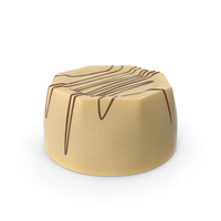 Cylinder Octagon White Chocolate Candy with Chocolate Lines PNG & PSD Images