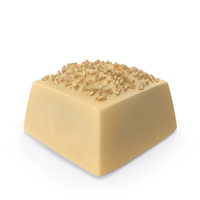 Square white Chocolate Candy with Nuts PNG & PSD Images