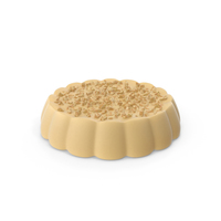 Disk White Chocolate with Nuts PNG & PSD Images