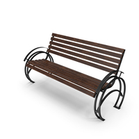 Bench Walnut PNG & PSD Images