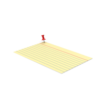 Yellow Index Card And Push Pin PNG & PSD Images
