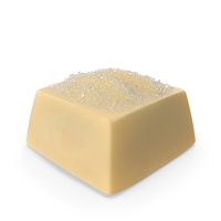 Square White Chocolate Candy with Sugar PNG & PSD Images