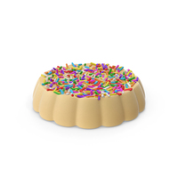 Disk White Chocolate With Colored Pops PNG & PSD Images