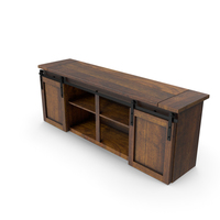 Barn Door Console PNG & PSD Images