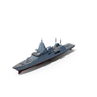 Hunter Class Frigate with Seahawk Helicopter PNG & PSD Images