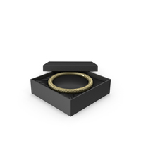Gold Neck Jewelry in a Black Gift Packaging PNG & PSD Images