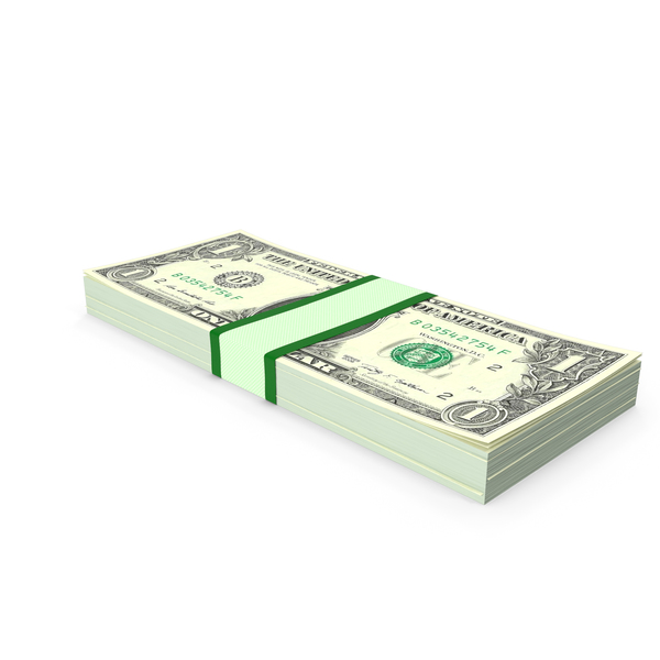 Stack of One Dollar Bills PNG & PSD Images
