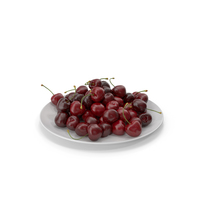 Cherries in a Plate PNG & PSD Images