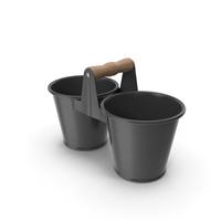 Twin Pot Black PNG & PSD Images