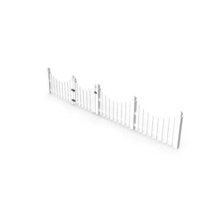 White Scalloped Fence Section PNG & PSD Images
