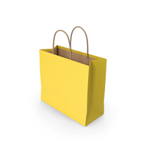 Paper Bag Yellow PNG & PSD Images