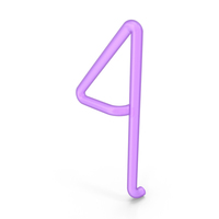 Neon number 4 PNG & PSD Images