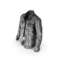 Mens Jean Jacket Dark Grey PNG & PSD Images