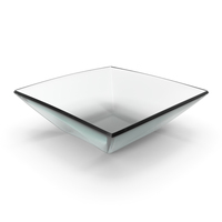 Glass Square Bowl PNG & PSD Images