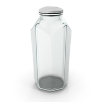 Glass Octagon Jar Closed PNG & PSD Images