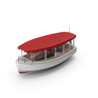 Pleasure Boat with Canvas Enclosures PNG & PSD Images