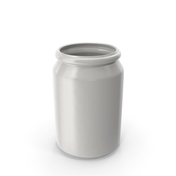 Porcelain Round Jar Open PNG & PSD Images