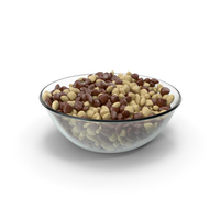 Round Bowl with Almond Mixed Chocolate Candy PNG & PSD Images