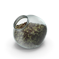 Spherical Jar with Mixed Almond Chocolate Candy PNG & PSD Images