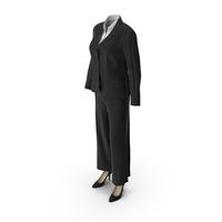 Womens Business Suit Black PNG & PSD Images
