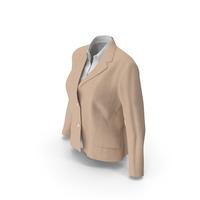 Womens Jacket Shirt Beige PNG & PSD Images