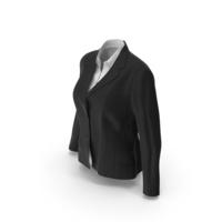 Womens Jacket Shirt Black PNG & PSD Images