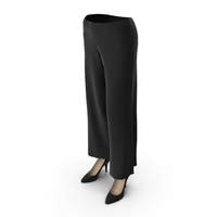 Womens Pants Shoes Black PNG & PSD Images