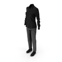 Womens Jeans Shirt Shoes Black PNG & PSD Images