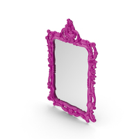 Pink Wall Baroque  Mirror PNG & PSD Images