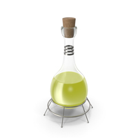 Alchemical Flask Yellow PNG & PSD Images