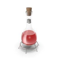 Alchemical Flask Red PNG & PSD Images