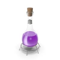 Alchemical Flask Violet PNG & PSD Images