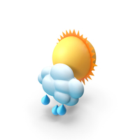 Sun with Rain PNG & PSD Images
