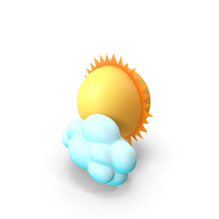 Sun with Cloud PNG & PSD Images