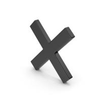 Symbol Black X Mark PNG & PSD Images