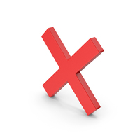 Red Symbol X mark PNG & PSD Images