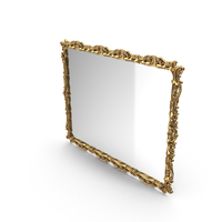Baroque Mirror Golden PNG & PSD Images