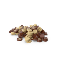 Truffle Chocolate Candy Pile PNG & PSD Images